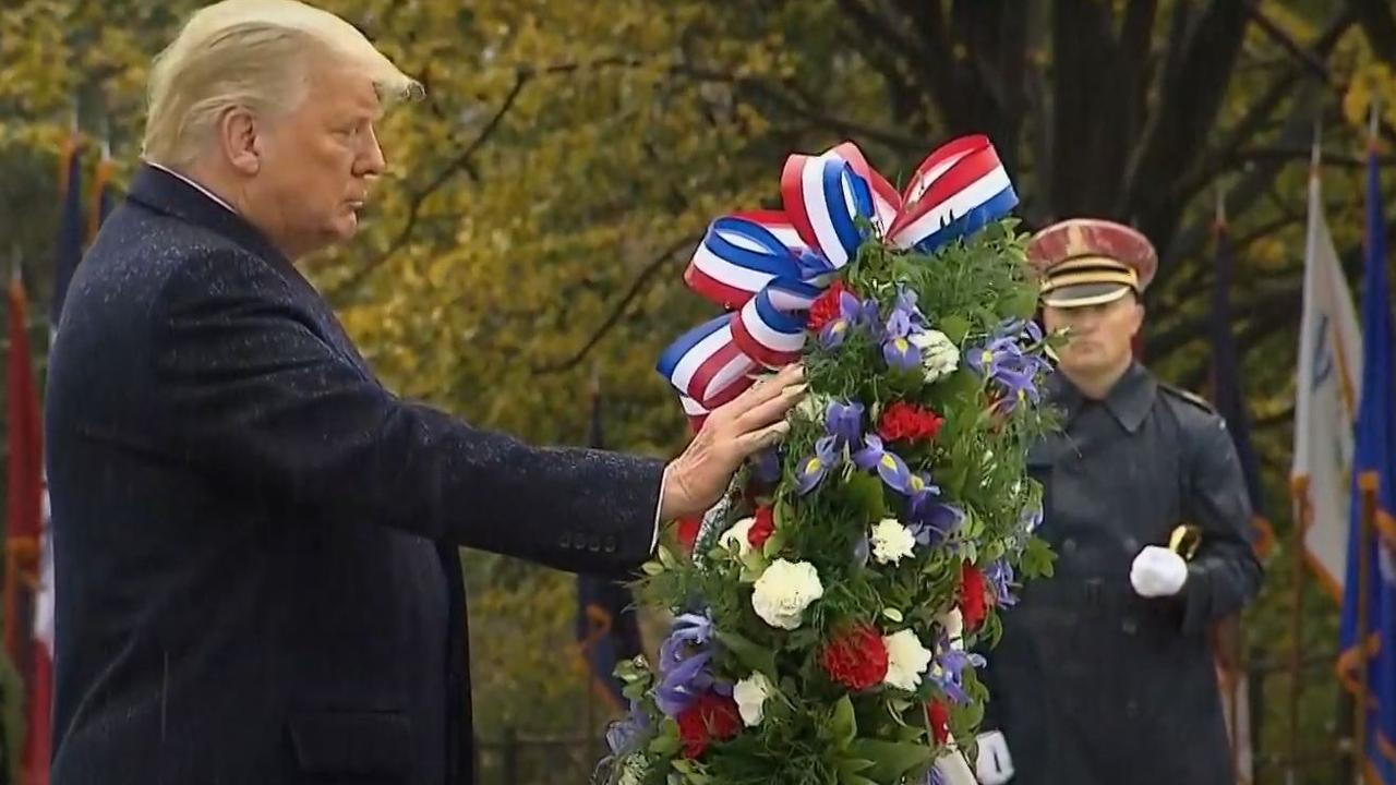 And spent about five seconds with his hand resting on it. Picture: NBC News