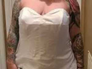 'Not a joke': Bride's wedding dress stuff-up
