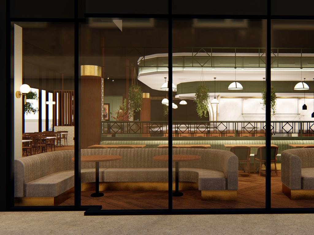 Artist's impressions of the new Market Bistro in Maroochydore