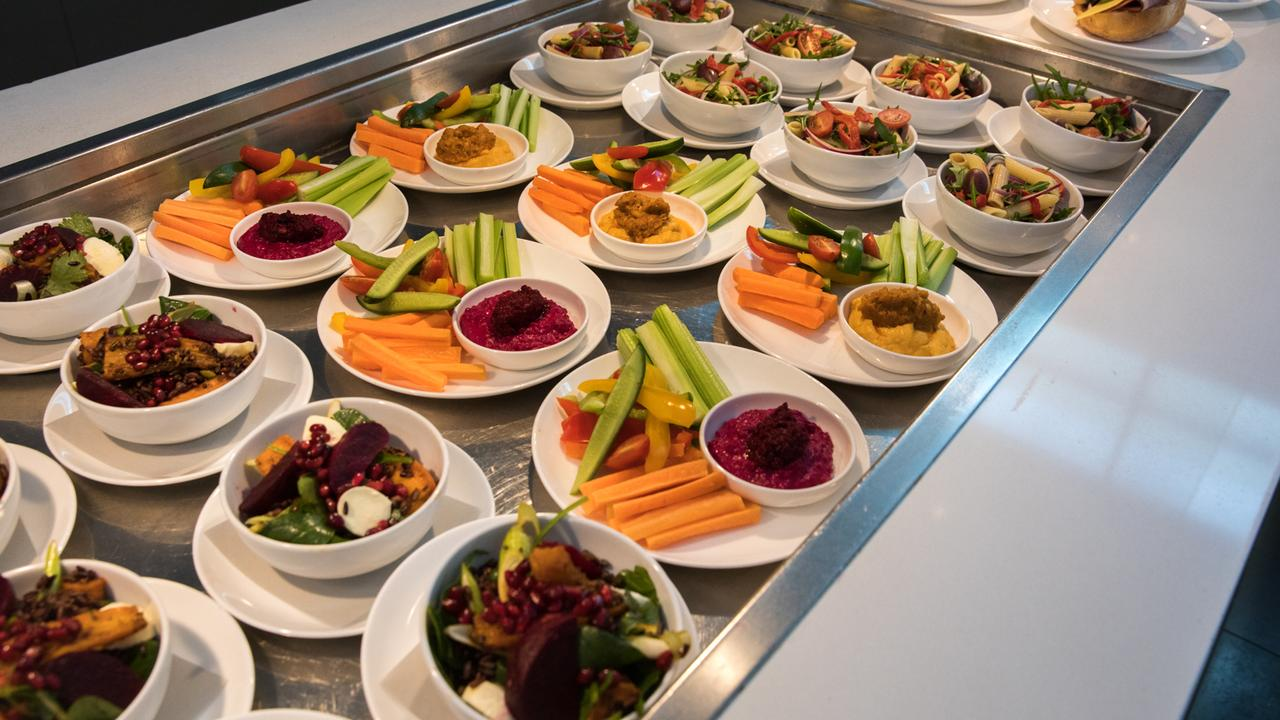 Qantas will have snacking stations.