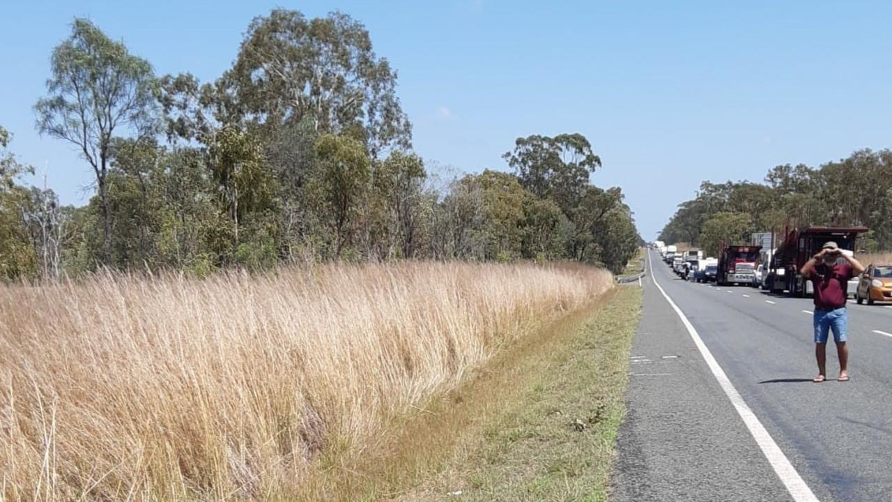 The Bruce Highway was closed after a fatal traffic crash north of Rockhampton last week. Picture: Contributed