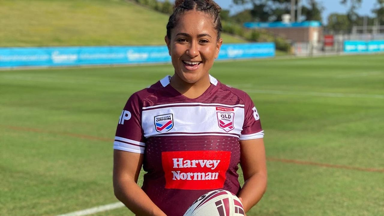 Shaniah Power will make her State of Origin debut on Friday night. Photo: QRL Media