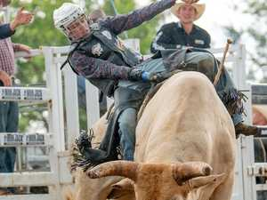 Thrills and spills guaranteed when bucking bulls hit Airlie