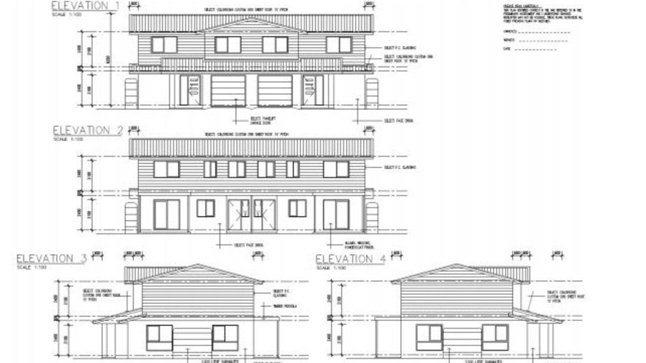 Exterior plans for the St George Street unit complex. Photo: SDRC