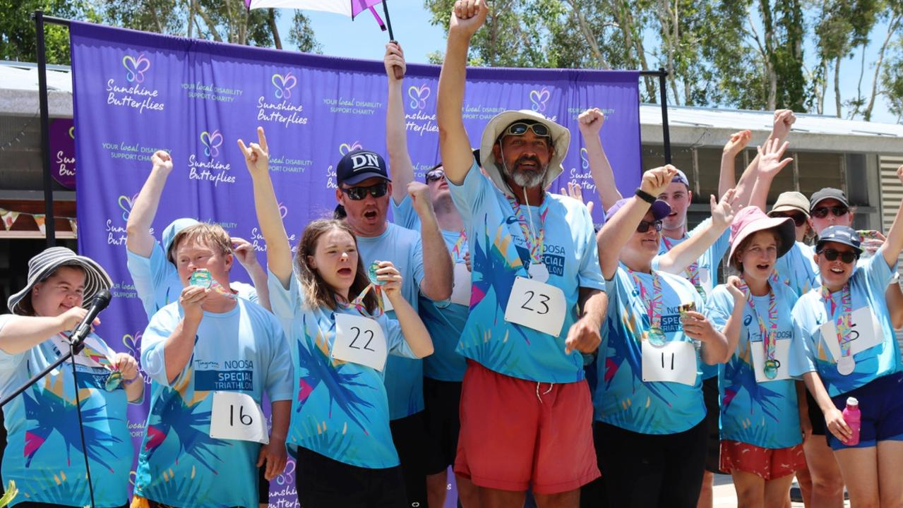 Everyone of these Sunshine Butterflies triathlon competitor is a champion.