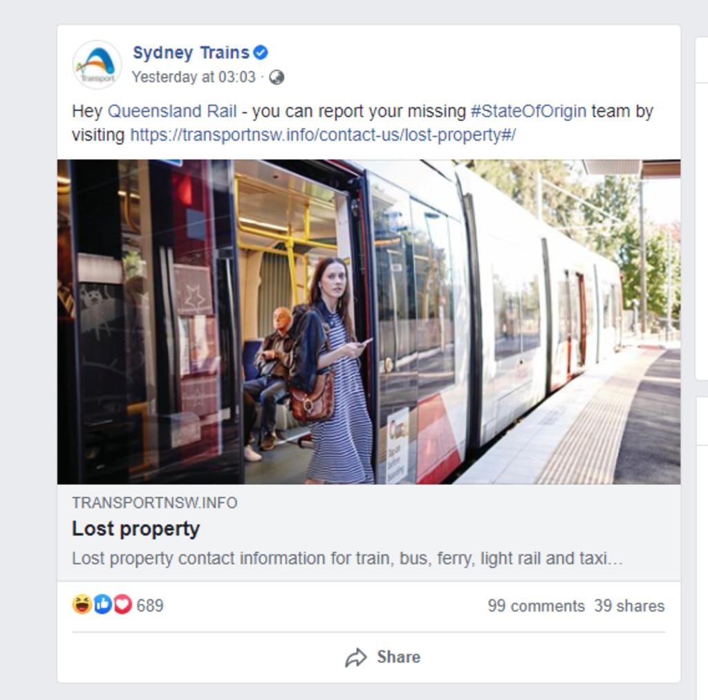 Sydney Trains returned serve after Game Two's unfortunate result. Picture: Facebook.