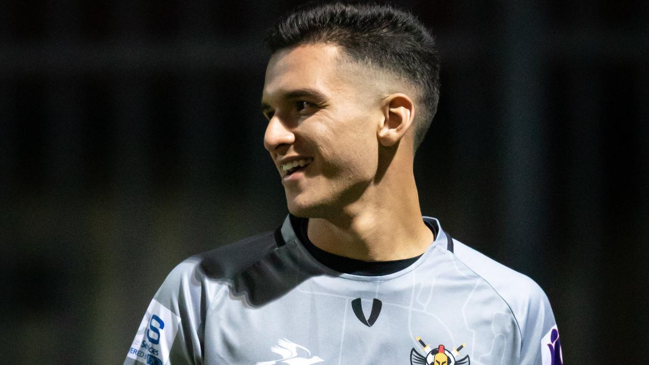 Magpies Crusaders midfielder Eduardo Castaneda.