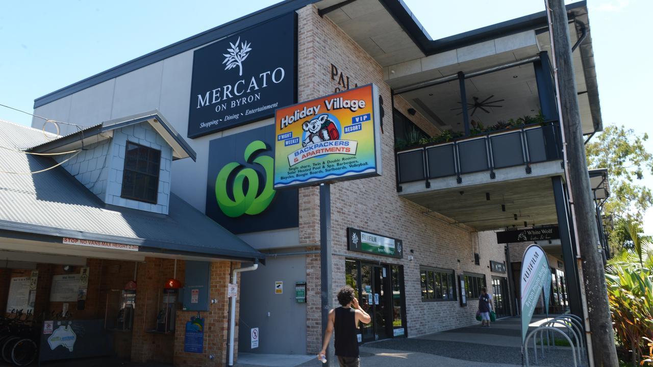 The Mercato shopping centre on Jonson St in Byron Bay.