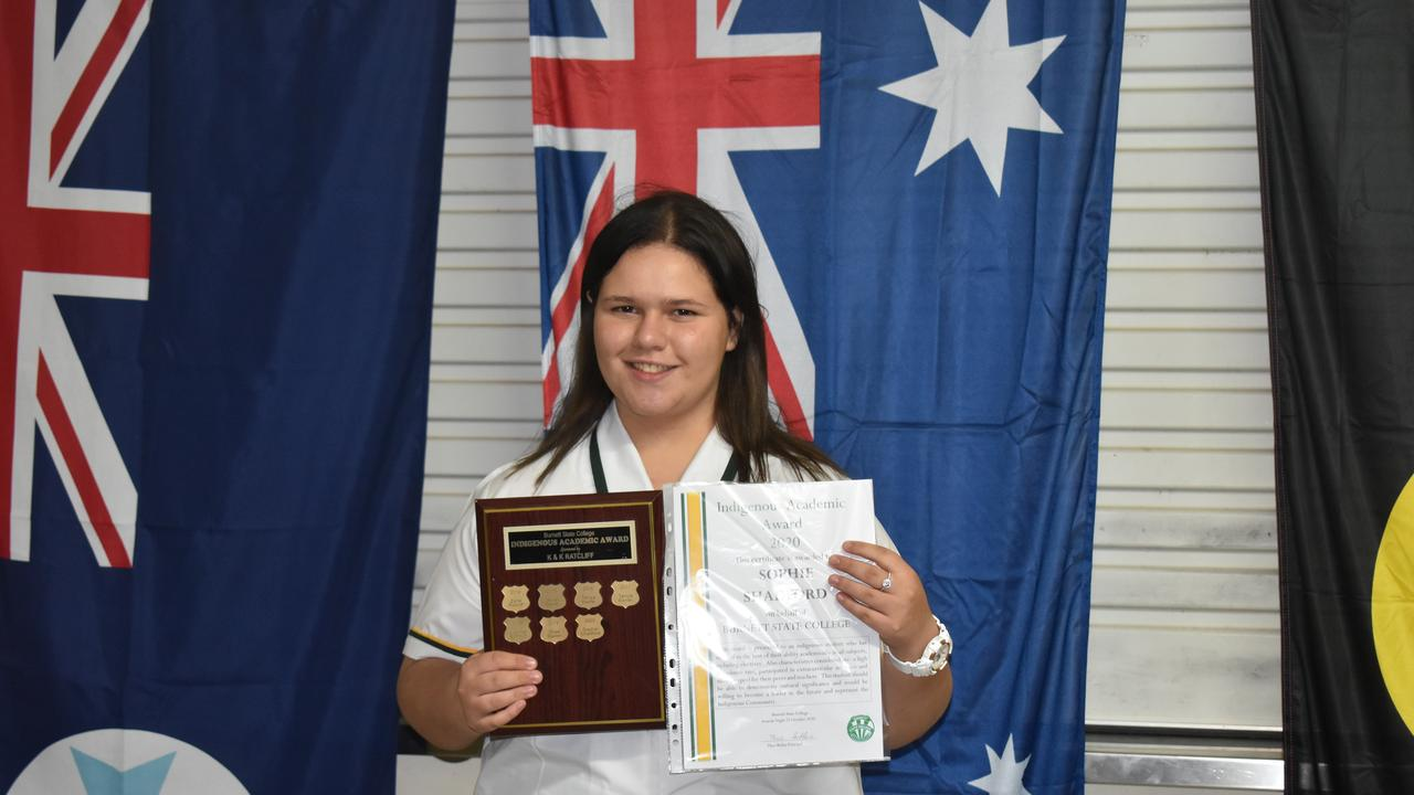 The Indigenous Academic Award went to Sophie Shadford. (Picture: Kristen Camp)