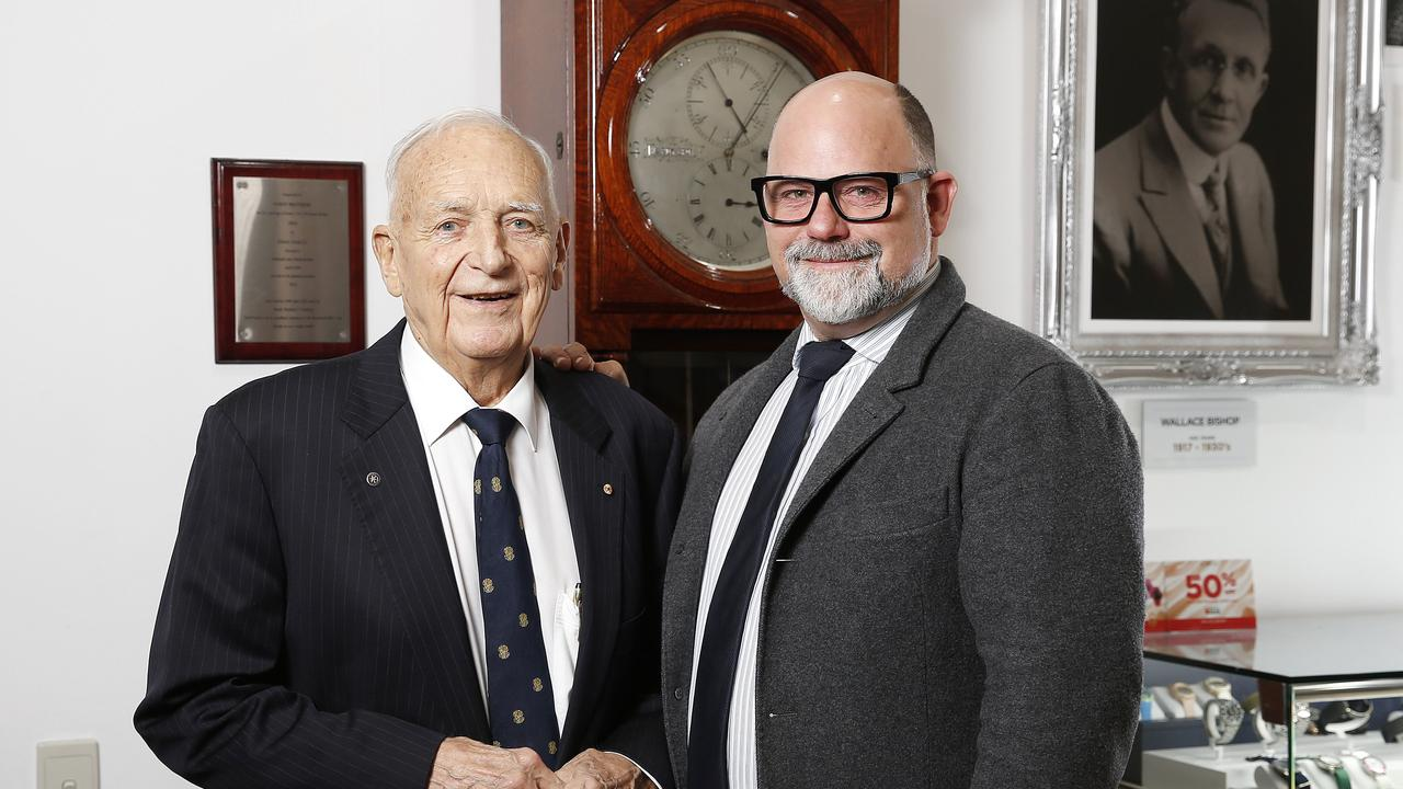 Wallace Bishop Jnr with his son Stuart Bishop.