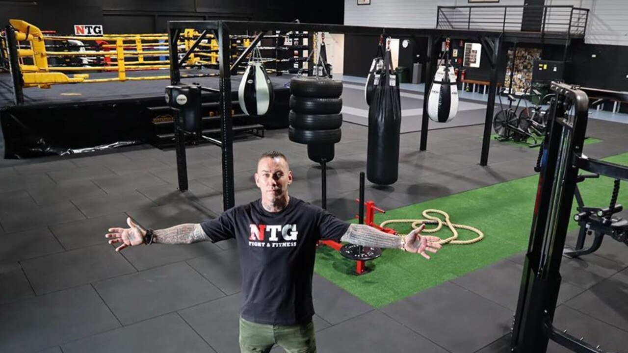 A former senior bikie and Thaiboxing champion says his fight school is about keeping men out of trouble.