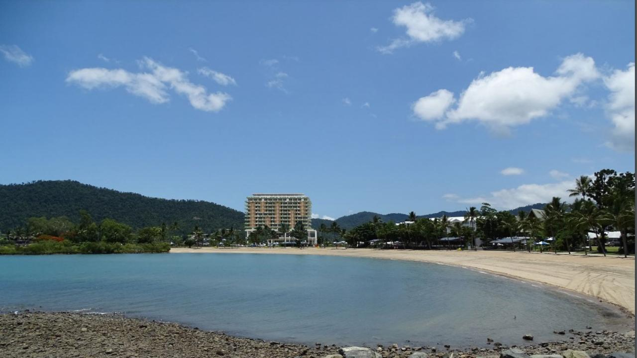 An impression of the proposed hotel in the northern precinct from the Airlie Beach foreshore. Picture: Supplied