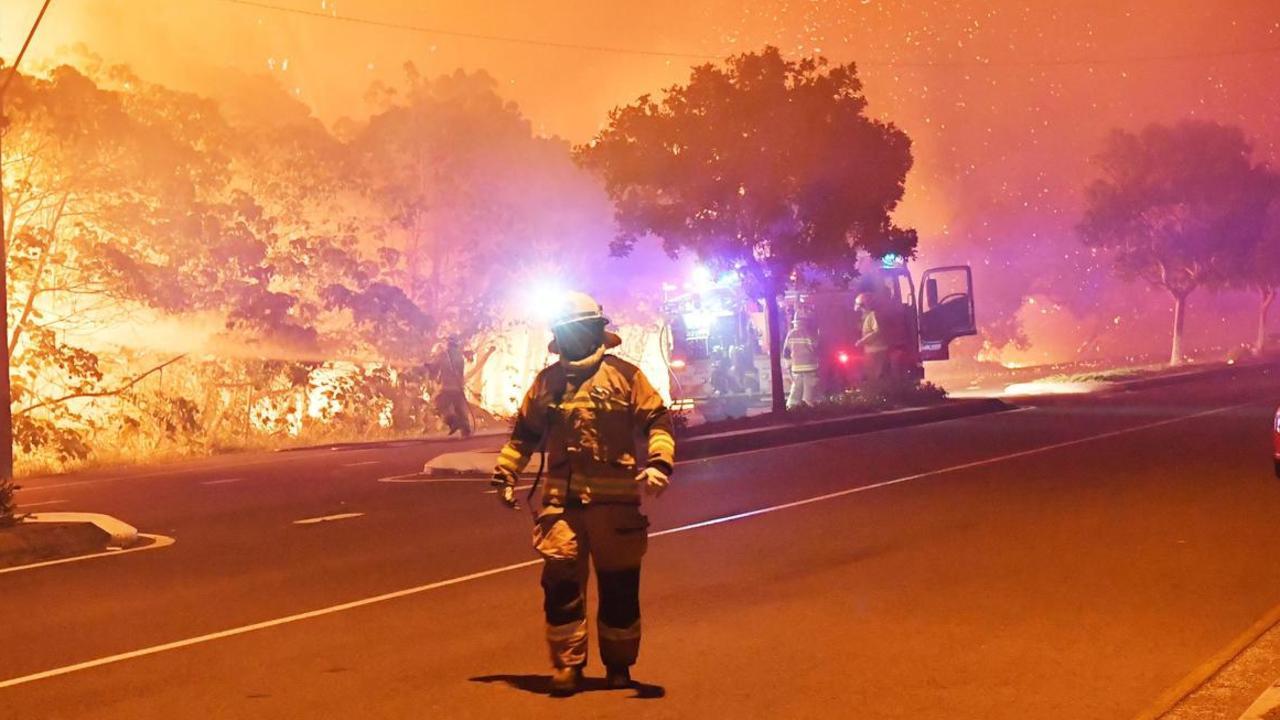 Peregian under siege from wildfires last year.