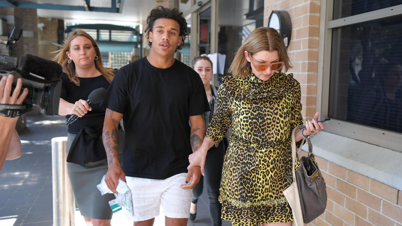 Tristan Sailor leaves Wollongong Local Court with his mother Tara this week after being granted bail over the alleged aggravated sexual assault of a 24-year-old woman.