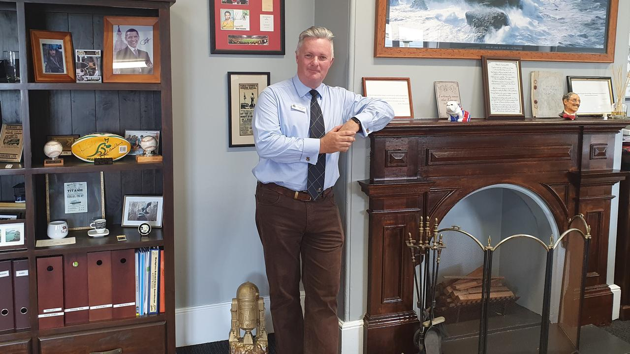 MARYBOROUGH STATE HIGH SCHOOL: Principal Simon Done in his office.