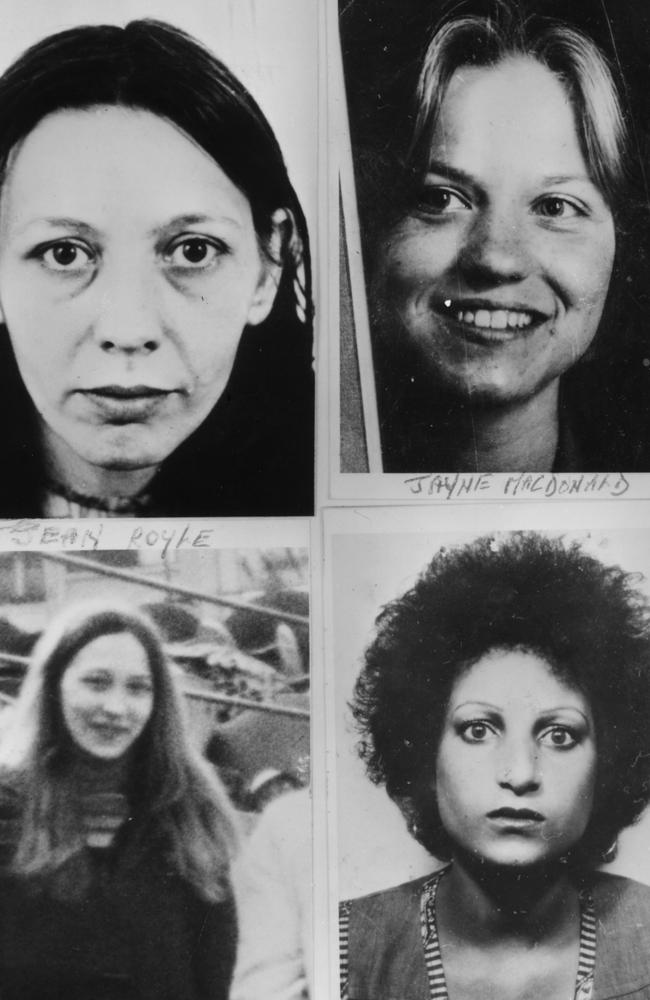 Four of the young women murdered by Mr Sutcliffe: Vera Millward, Jayne MacDonald, Jean Royle and Helga Rytka. Picture: Keystone/Getty Images