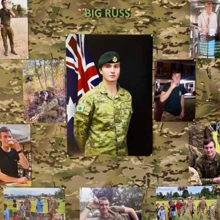 PTE Braiden Russell, who died by suicide, has been farewelled by 3RAR