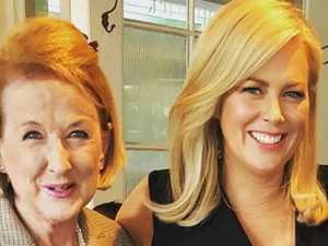 Sam Armytage breaks down at mother's funeral