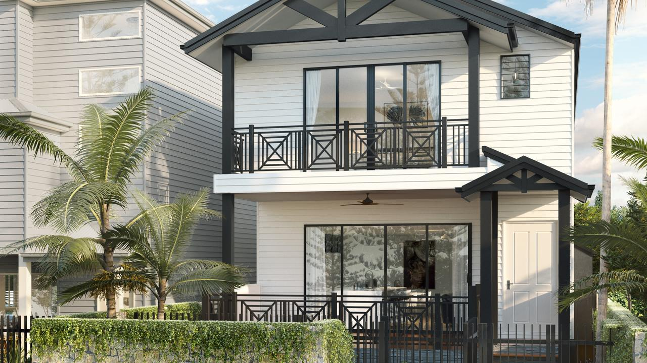 Renders of Freedom Beach Homes Rainbow Bay project by Sherpa Property Group.