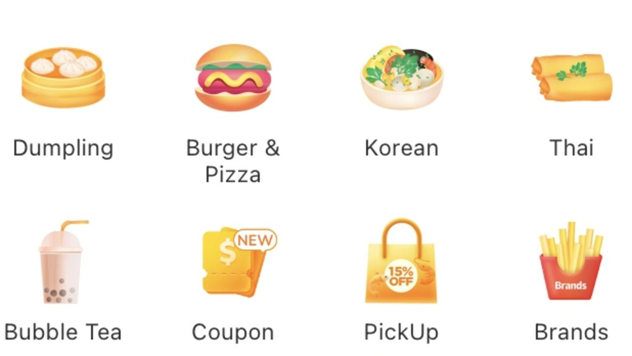 The Easi app lists bubble tea alongside burgers.