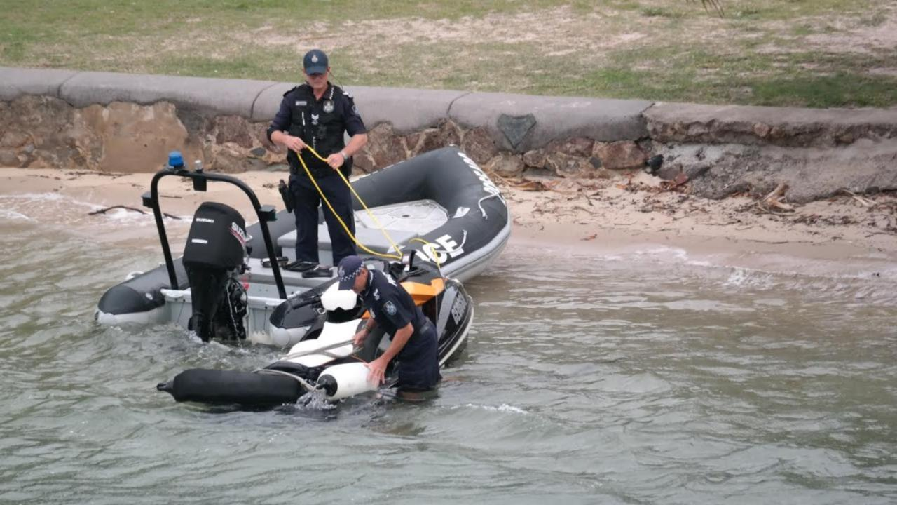 Police are searching for teenagers who threw rocks at jetski riders, causing them to crash. Photo: Supplied