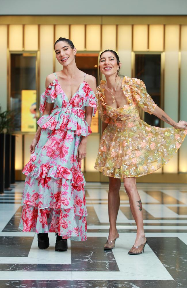 The Veronicas, sisters Lisa and Jessica Origliasso, are spending two weeks in Byron Bay to avoid Queensland's tough quarantine rules. Picture: Justin Lloyd