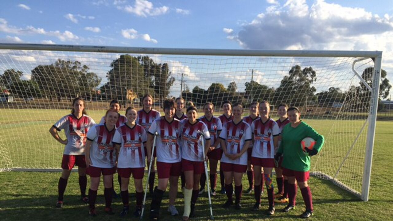 FIERCE LINE-UP: The Warwick Wolves championship women's side will compete in their first grand final in years today. Photo: contributed