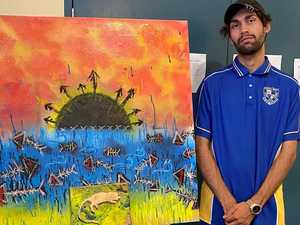 Indigenous artist showcases culture through artwork