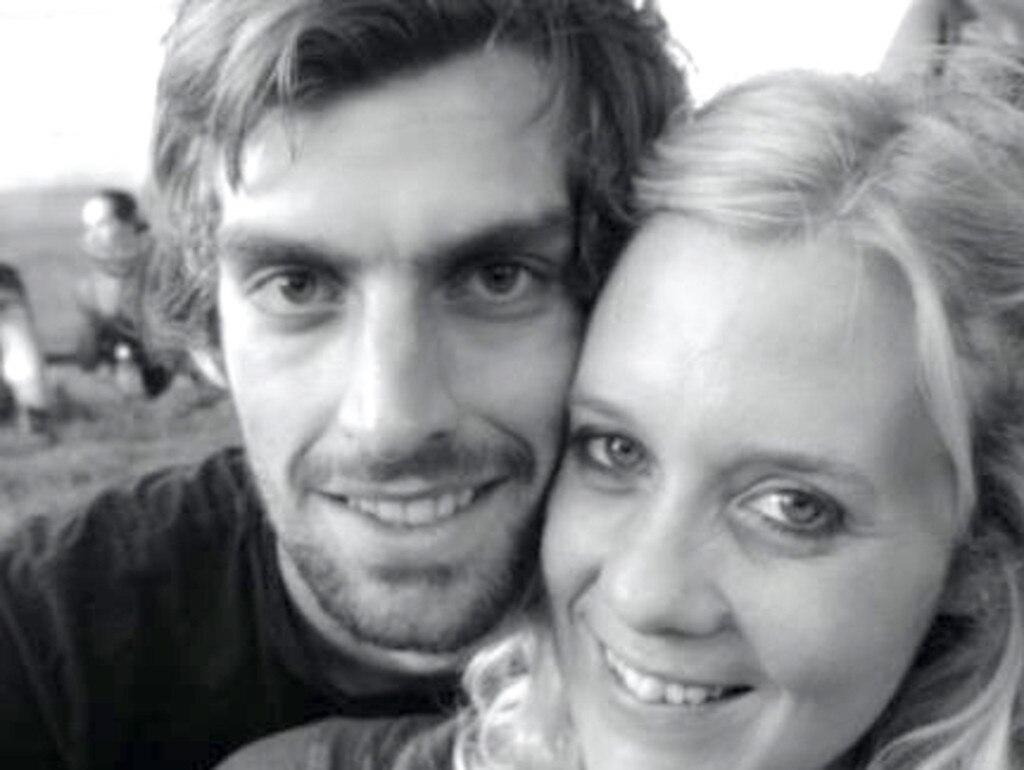 Chris Percy with his partner Lauren Brooks, who tragically died three years ago. Picture: Facebook