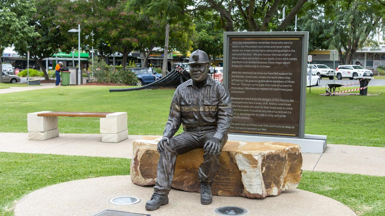 The Moranbah Miners Memorial. Picture: Daryl Wright