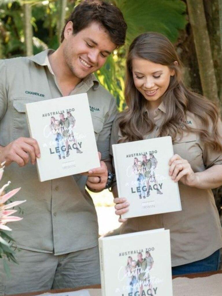 Bindi Irwin with husband Chandler Powell. Photo: Bindi Irwin/Australia Zoo
