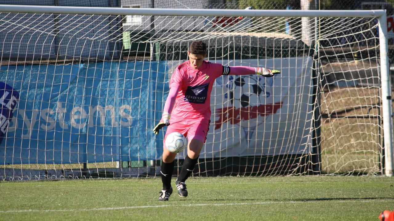 Western Pride under-18 goalkeeper Josh Boyle made his senior team debut on Saturday night.