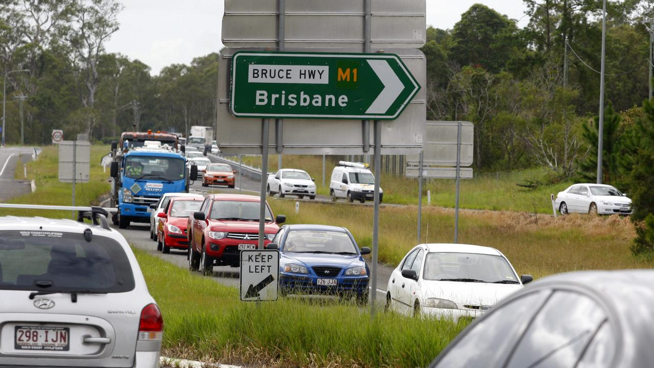 FILE PHOTO: Traffic is delayed on Caloundra Rd after a two-vehicle crash. Picture: Megan Slade