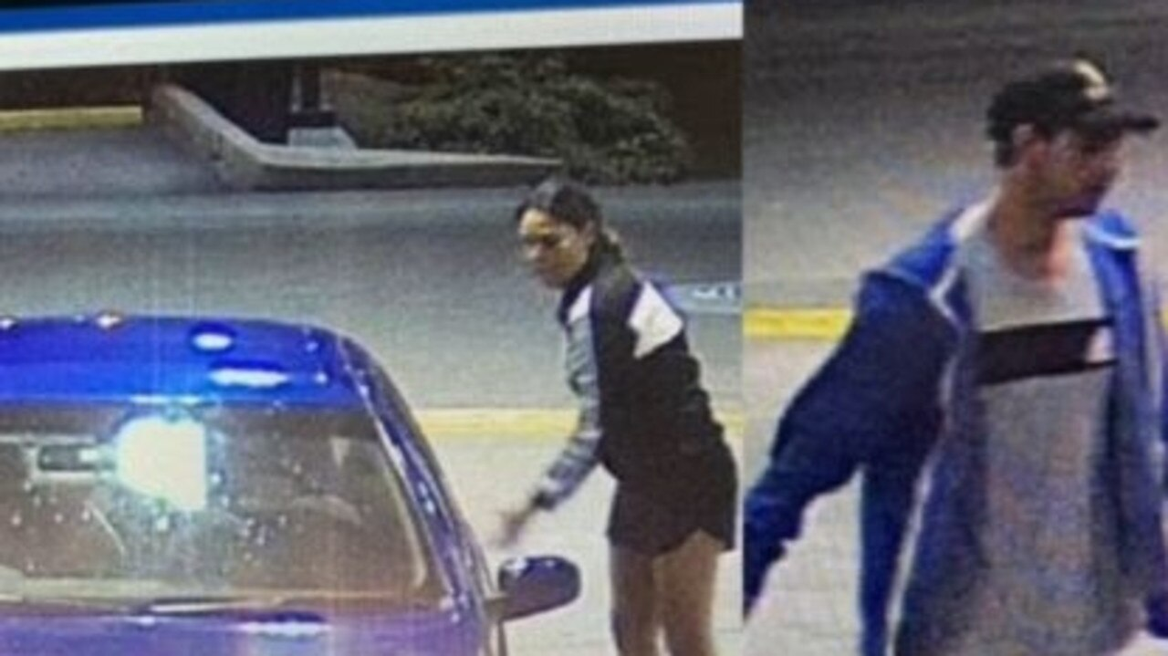 HELP: Police are seeking to identify the two people pictured below who may be able to assist them with their inquiries regarding a vehicle stolen from a Rockville address in Toowoomba. Pic: QPS