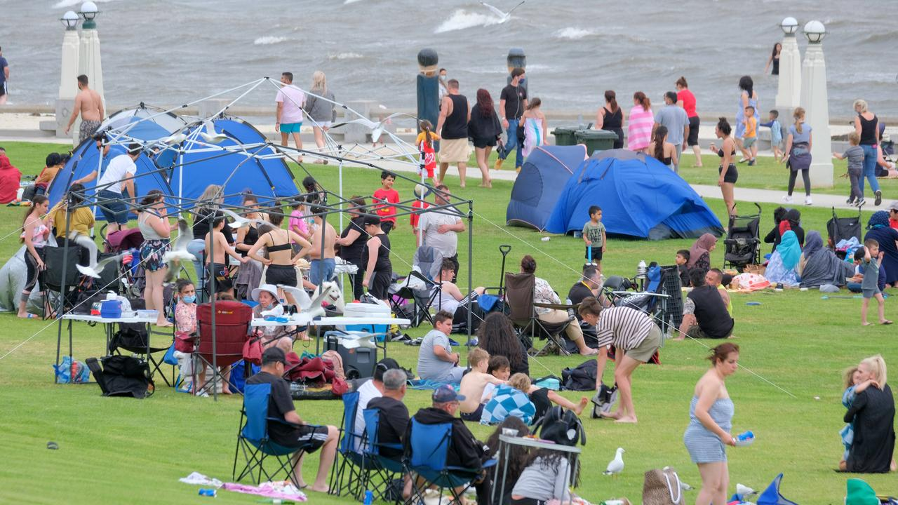 Packed Bellarine beaches as Melburnians flock back to the coast Eastern beach crowds Picture: Mark Wilson