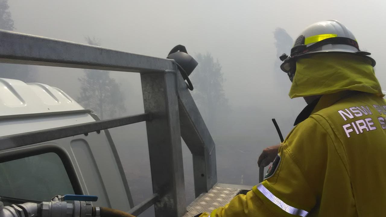 Meerschaum Vale brigade was called to a bush fire on the Tuckean Swamp on Saturday. Picture: Meerschaum Vale RFS