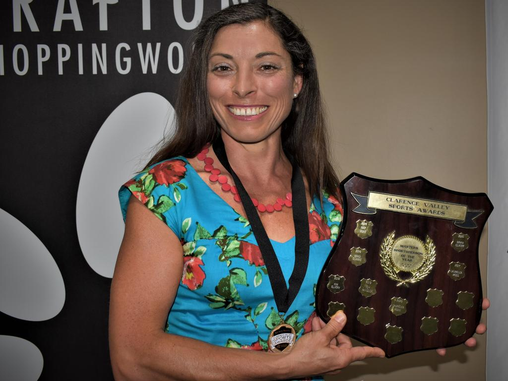 Cyclist Laurelea Moss won the 103.1 FM Loving Life Masters Sports Award for the second time at the 2020 Clarence Valley Sports Awards at Grafton District Services Club on Saturday, 14th November, 2020. Photo Bill North / The Daily Examiner
