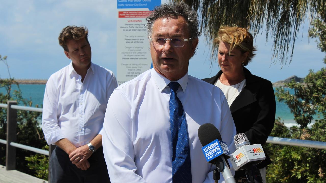 Cr Paul Amos at the announcement of the Jetty Foreshore Project Steering Advisory Committee. Photo: Tim Jarrett