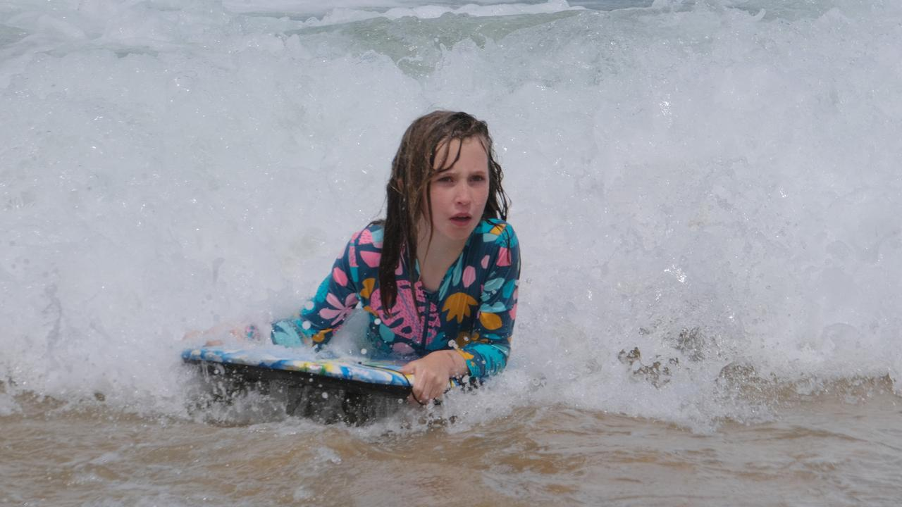 Yolanda, 9, surfing. Picture: Mark Wilson