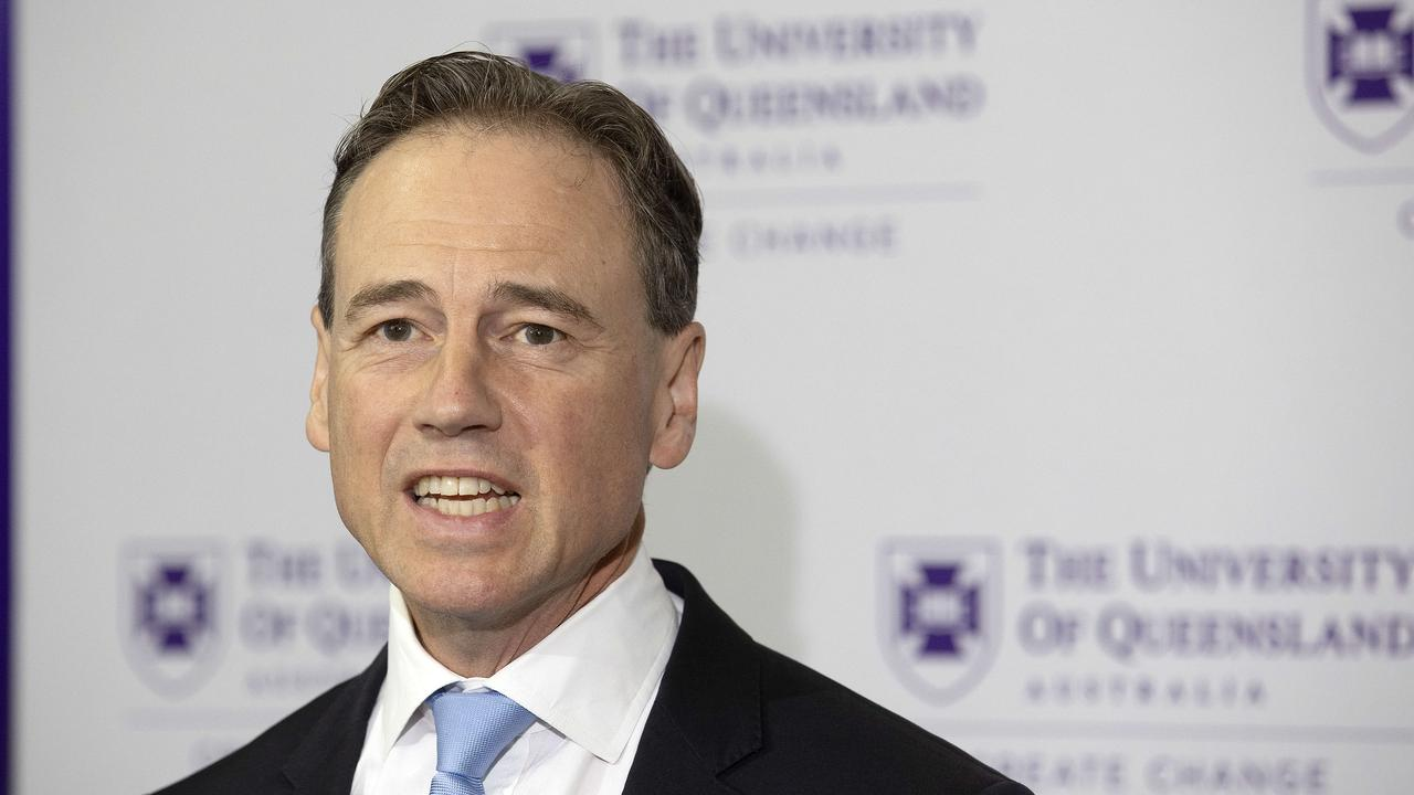 """Health Minister Greg Hunt says the government is reserving its right for """"no-jab no-entry"""" style vaccination policies. Picture: NCA NewsWire/Sarah Marshall"""