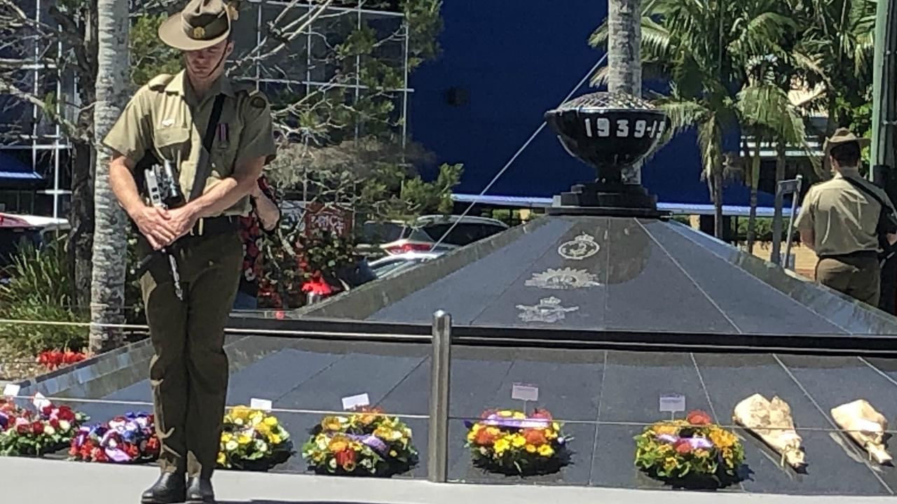 We will remember them. The 2020 Lismore Remembrance Day service was shorter than usual and limited to 100 people due to the pandemic. Photo: Alison Paterson