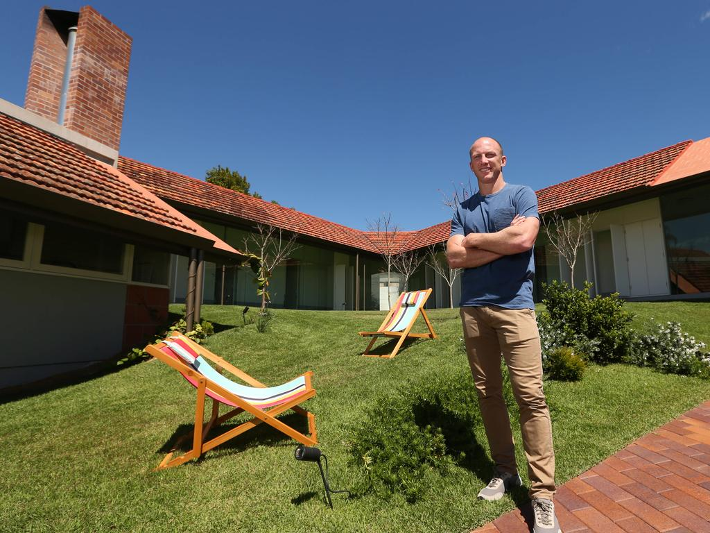 Darren Lockyer, at his Paul Owen-designed home in Rosalie, Brisbane. Picture: Lyndon Mechielsen/The Australian