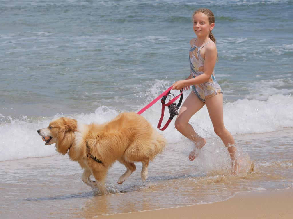 Kiaras Kyle, 9, with Patch the border collie. Picture: Mark Wilson