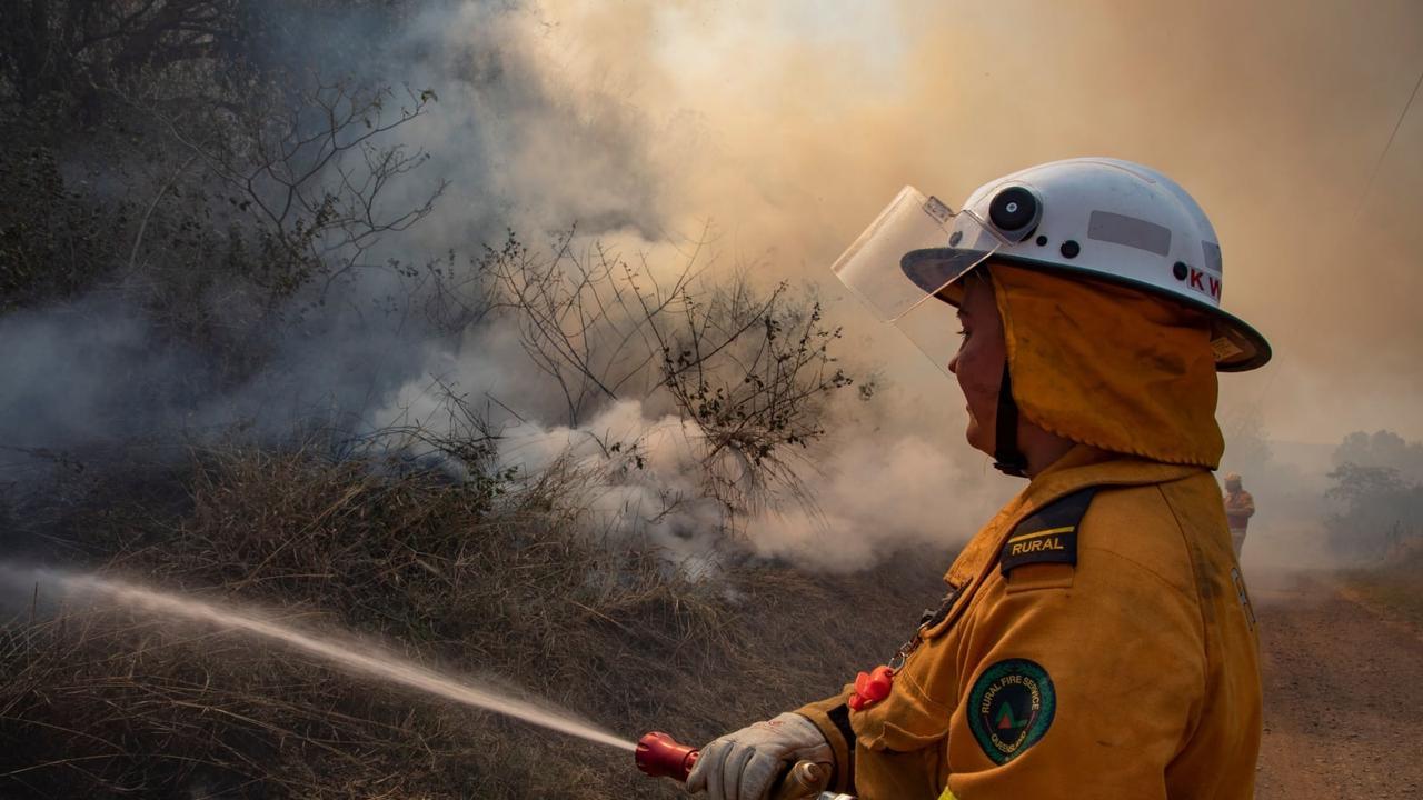 SMOKE WARNING: A rural firefighter tackling a bushfire. Generic image.