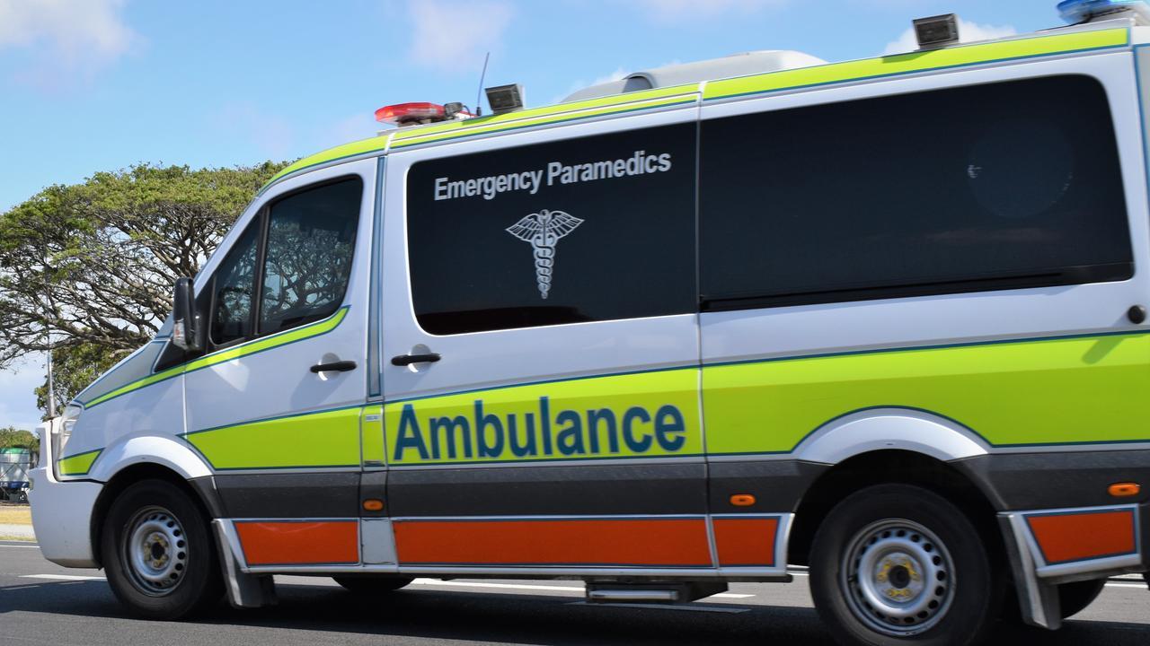Paramedics are on scene. Picture: Heidi Petith