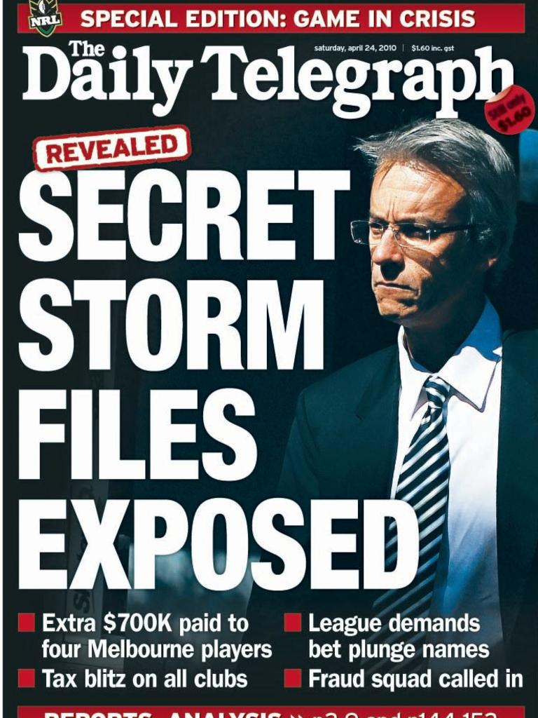 A The Daily Telegraph's front page in 2010.