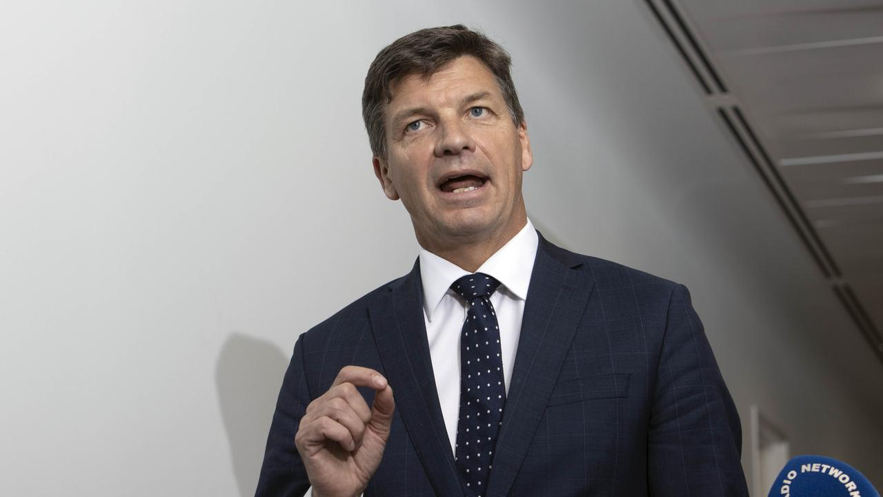 Energy Minister Angus Taylor will spruik hydrogen as a future job creator. NCA NewsWire/Gary Ramage