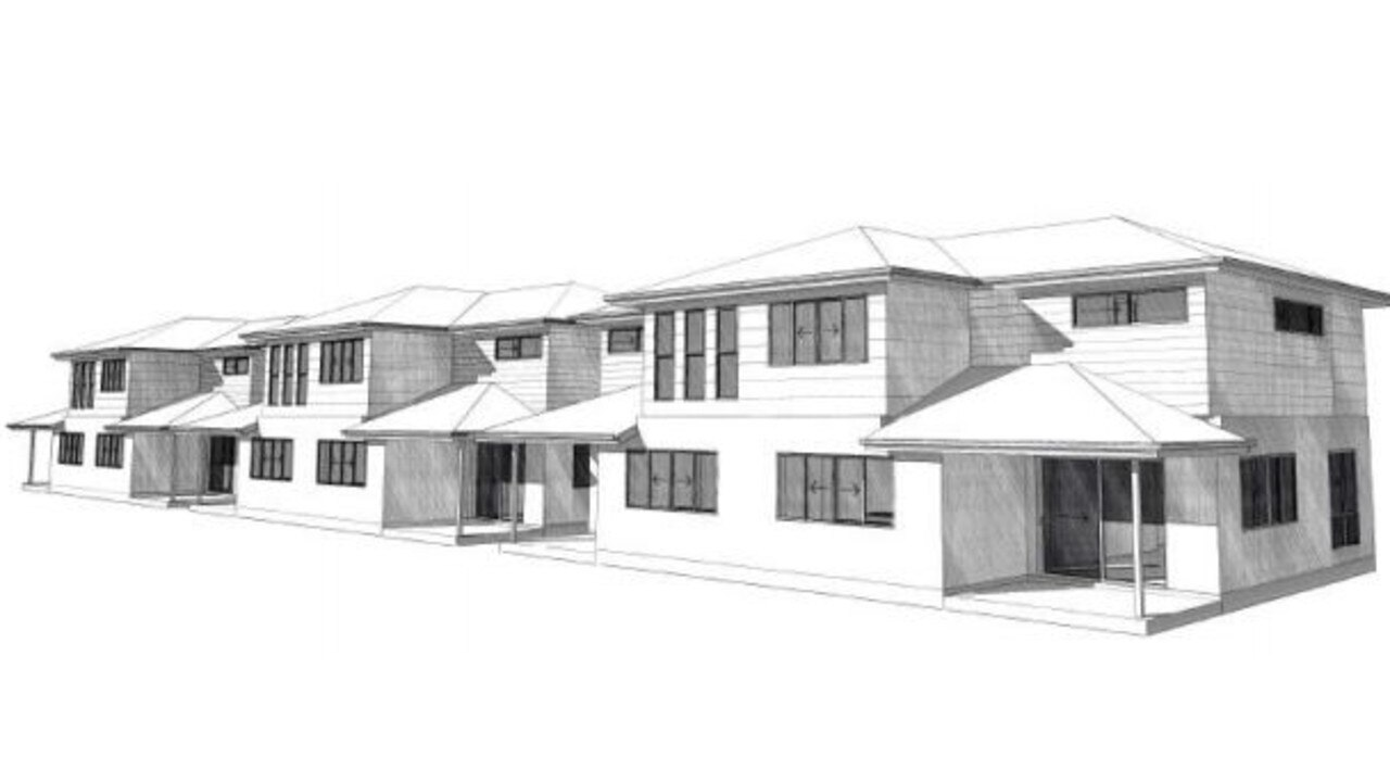The eight three-bedroom townhouses were approved in 2018.