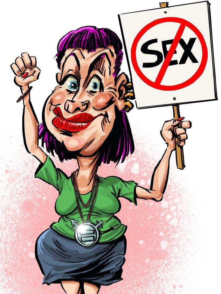 Why the Left hates sex. Artwork: Terry Pontikios