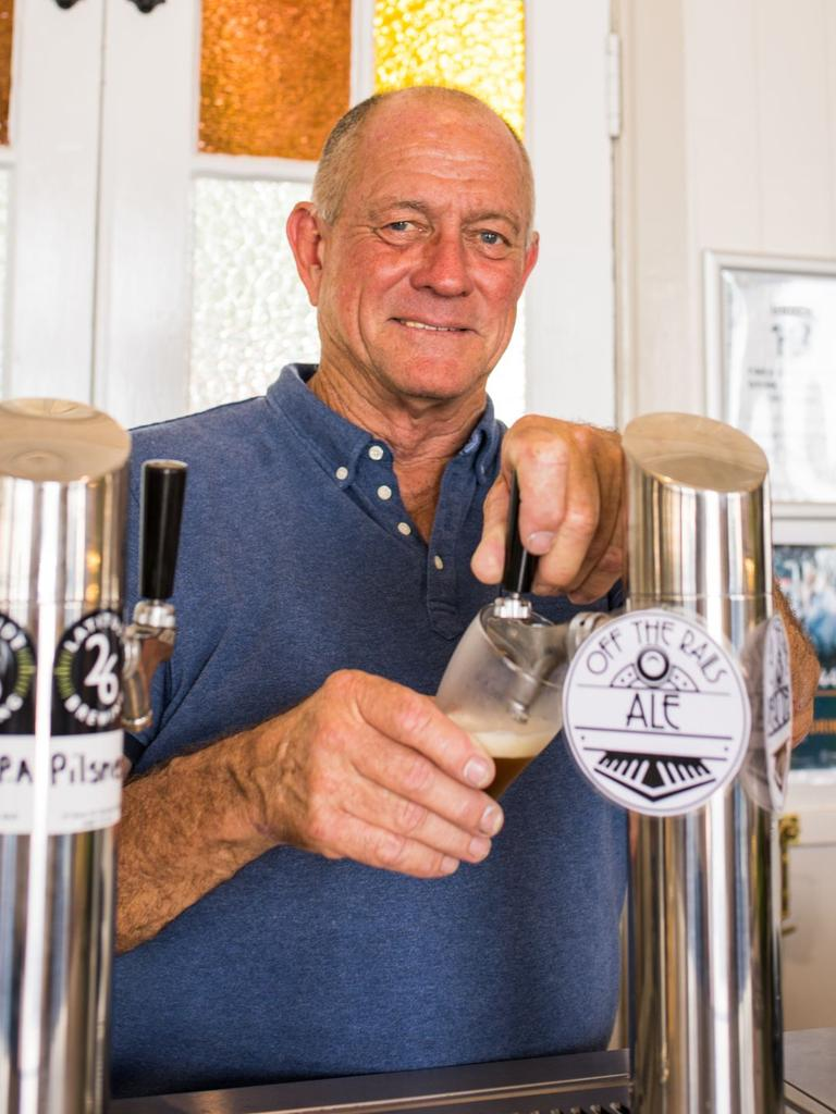 Graham Kidd has brewed a special craft beer in honour of the Rattler, called Off the Rails Ale.